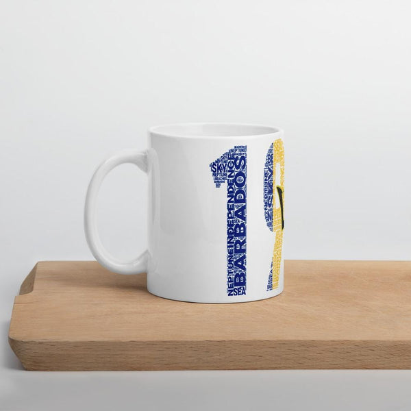 Barbados 1966 Independence Word Cluster Mug