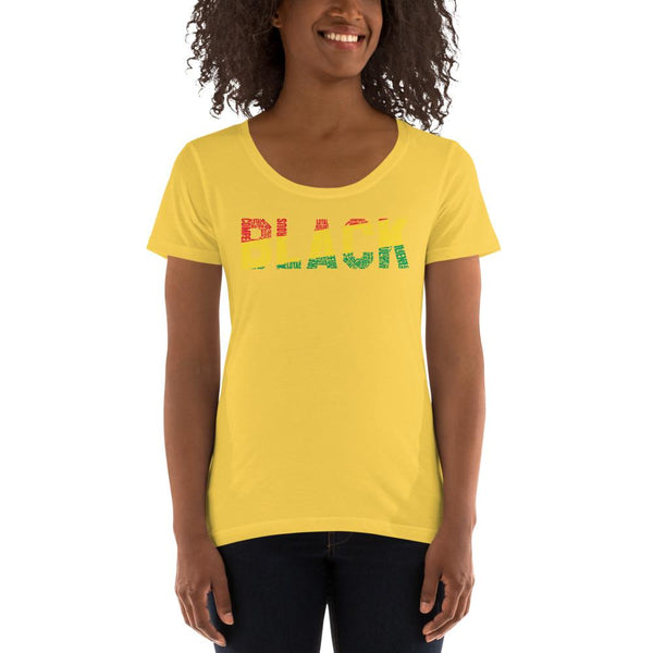 BLACK Ladies' Scoopneck T-Shirt