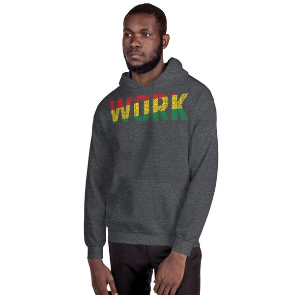 "MISSPELLING ""WORK""  Pan-African Colored Word Cluster Unisex Hoodie"