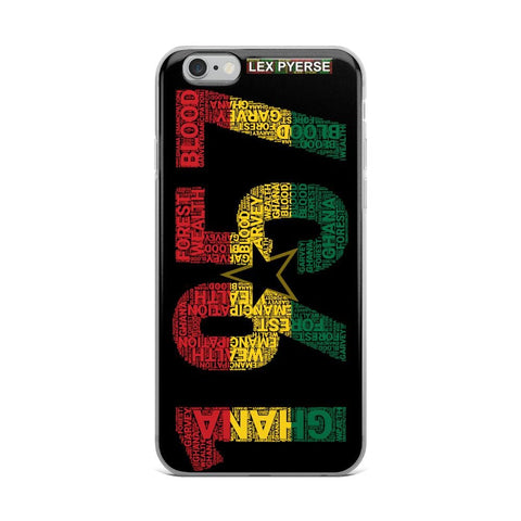 GHANA 1957 Independence Word Cluster iPhone Case