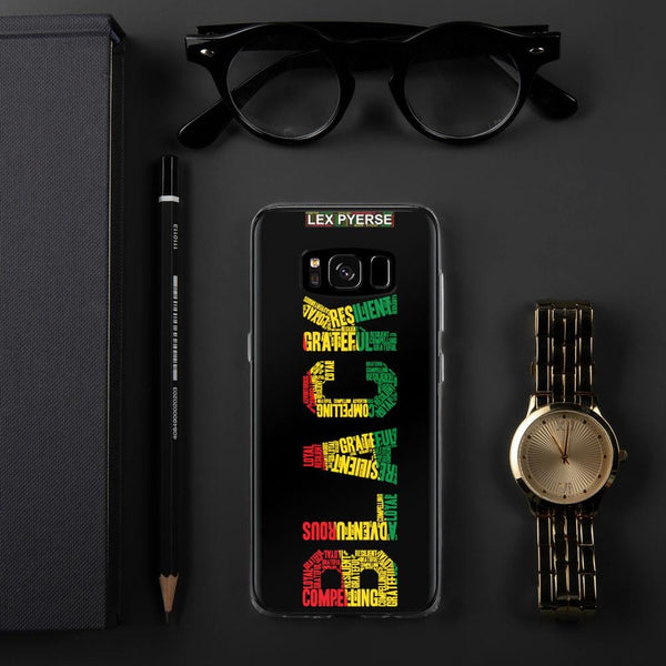 BLACK Word Cluster Samsung Case