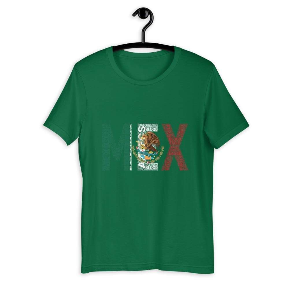 Mexico National Flag Word Cluster Short-Sleeve Unisex T-Shirt