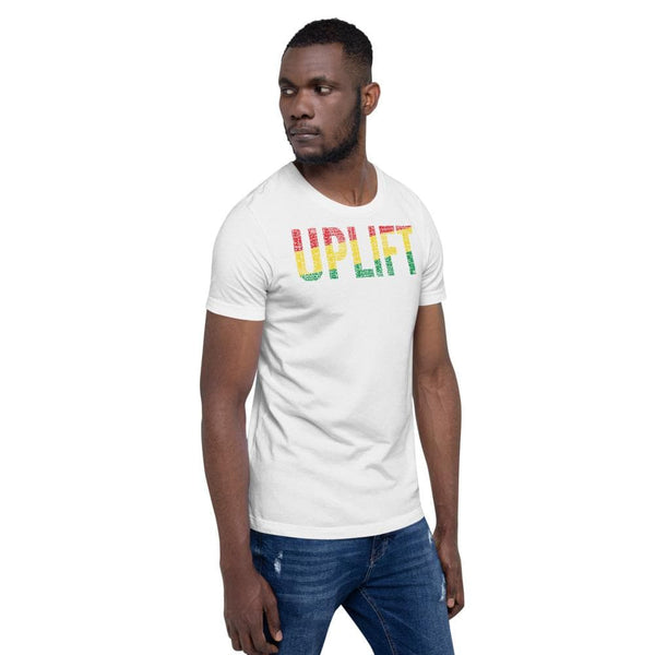 UPLIFT Black Men, Women, Boys, & Girls Pan-African Color Short-Sleeve Unisex T-Shirt - pyerses-bookstore-and-clothing.myshopify.com