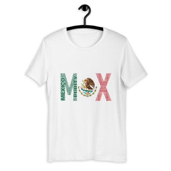 Mexico National Flag Word Cluster Short-Sleeve Unisex T-Shirt - pyerses-bookstore-and-clothing.myshopify.com