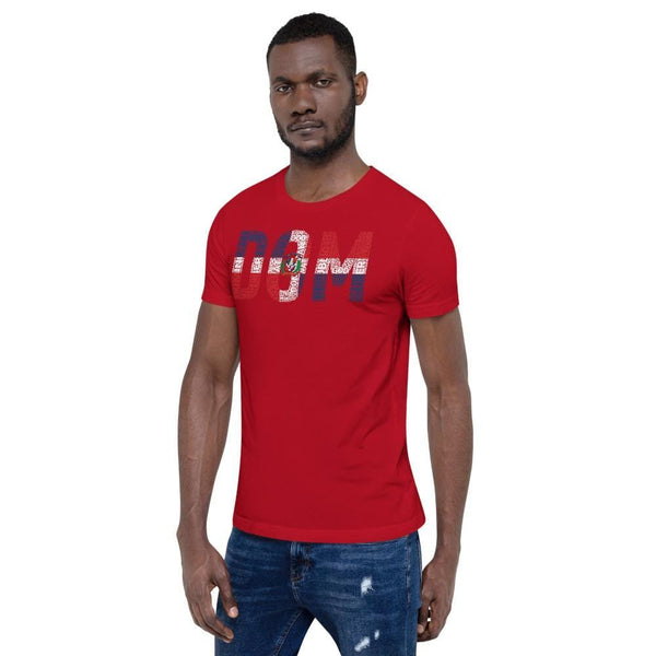 DOMINICAN REPUBLIC National Flag Inspired Short-Sleeve Unisex T-Shirt - pyerses-bookstore-and-clothing.myshopify.com