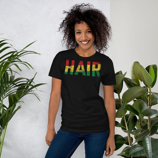HAIR Word Cluster Short-Sleeve Unisex T-Shirt