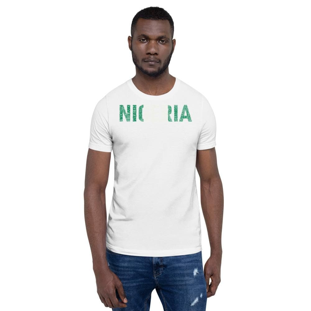 NIGERIA National Flag Inspired Short-Sleeve Unisex T-Shirt - pyerses-bookstore-and-clothing.myshopify.com