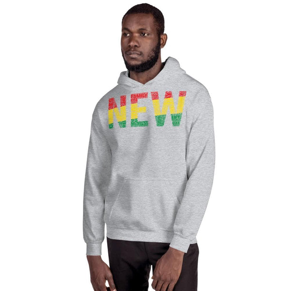 """NEW""  Pan-African Colored Word Cluster Unisex Hoodie"