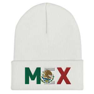MEXICO Modern Flag Inspired Cuffed Beanie - pyerses-bookstore-and-clothing.myshopify.com