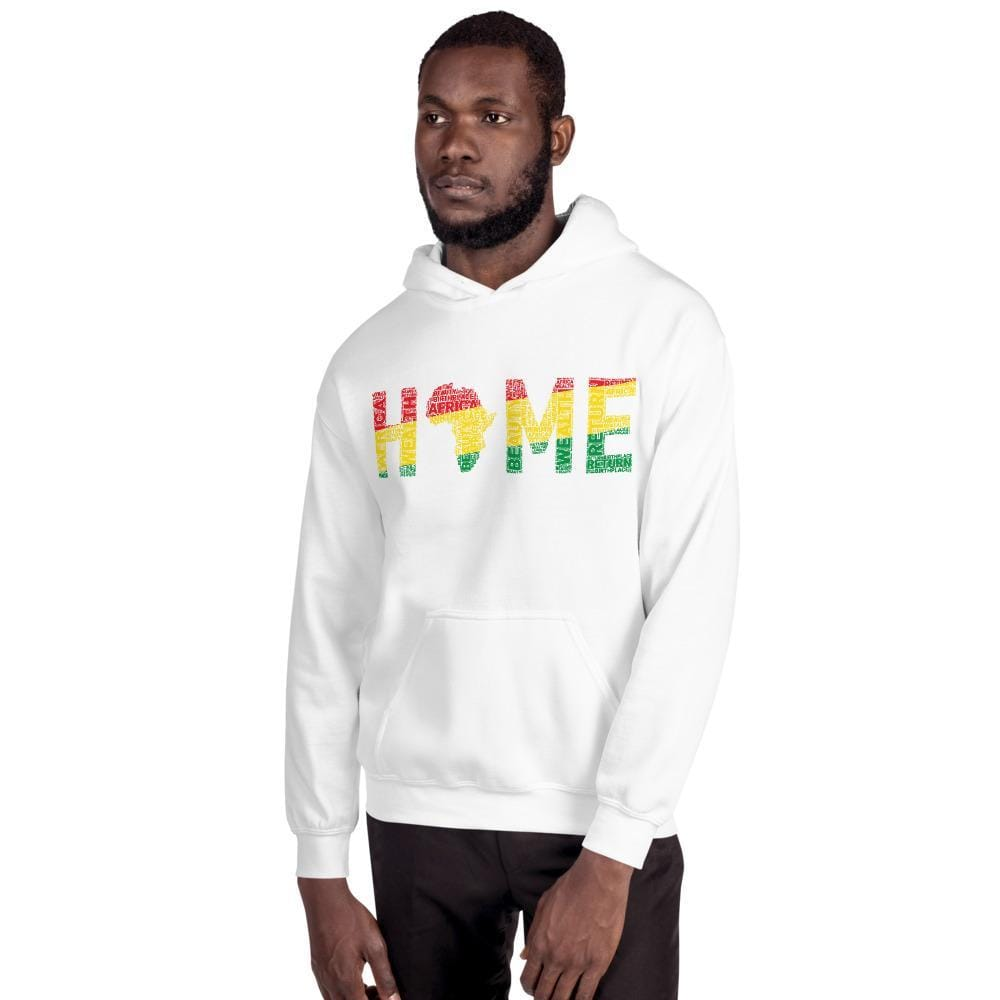 HOME Africa Silhouette Word Cluster Unisex Hoodie - pyerses-bookstore-and-clothing.myshopify.com