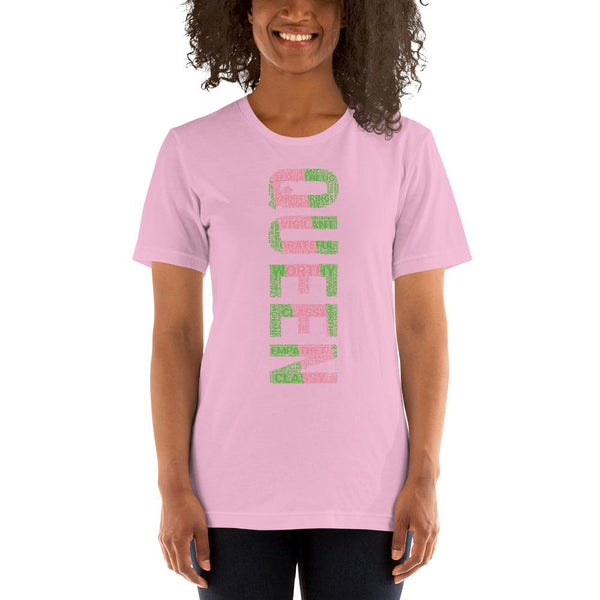 QUEEN (VERTICAL) AKA INSPIRED WORD CLUSTER Short-Sleeve Unisex T-Shirt