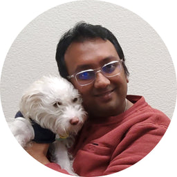 Mitt Mehta with pet: Shine