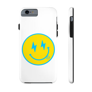 White Bolt Happy Face Phone Case