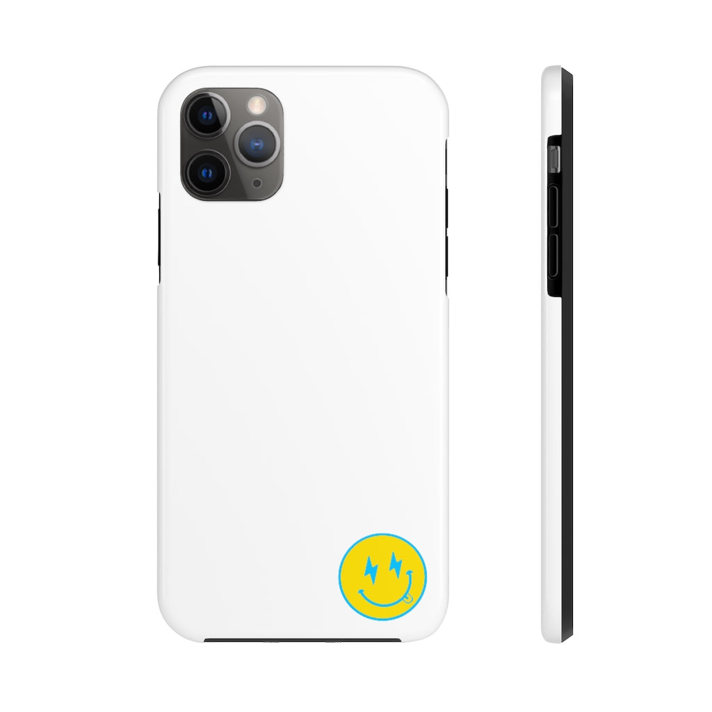 Small White Bolt Happy Face iPhone Case