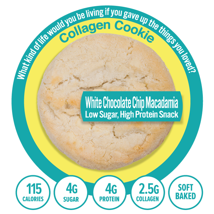 Collagen White Chocolate Macadamia Nut Cookies