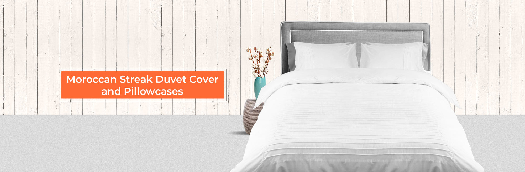 Moroccan Streak Duvet Cover And Pillow Cases
