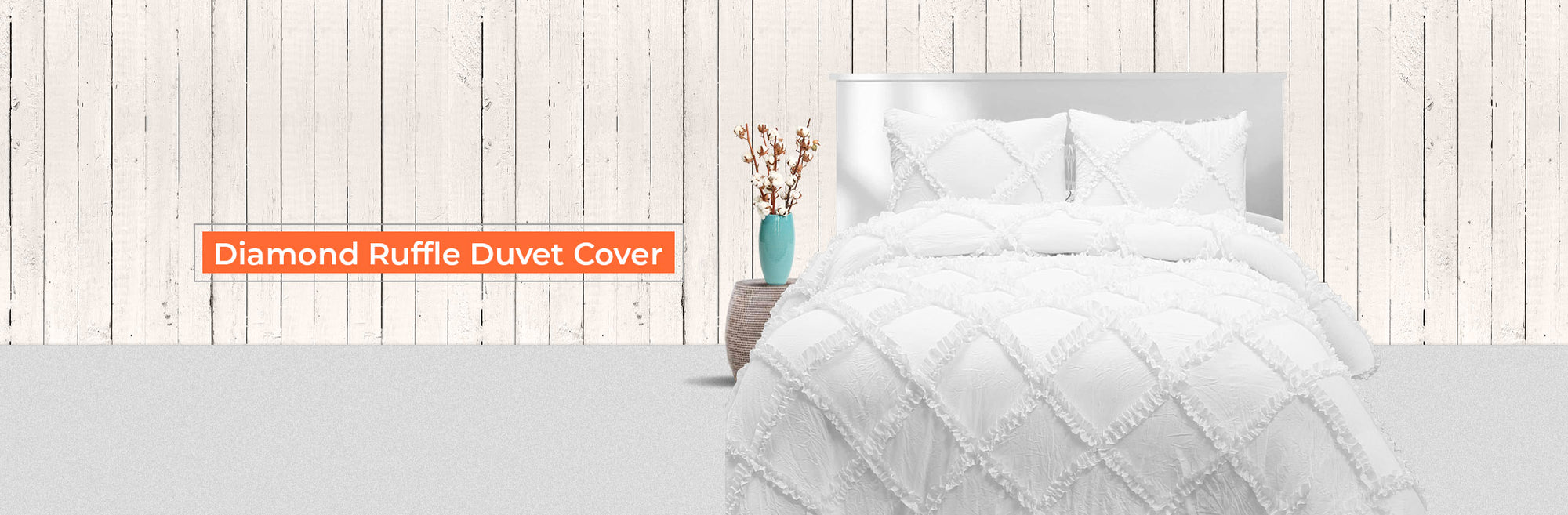 Diamond Ruffled Duvet Cover