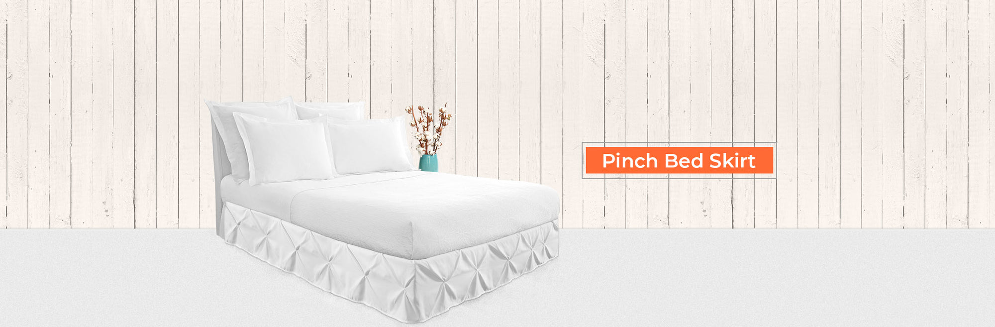 Pinch Pleated Bed Skirt