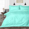 600TC Aqua Blue Striped Duvet Cover Set