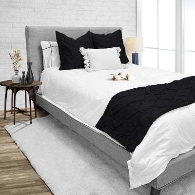 Top Rated Black pinch bed runner set