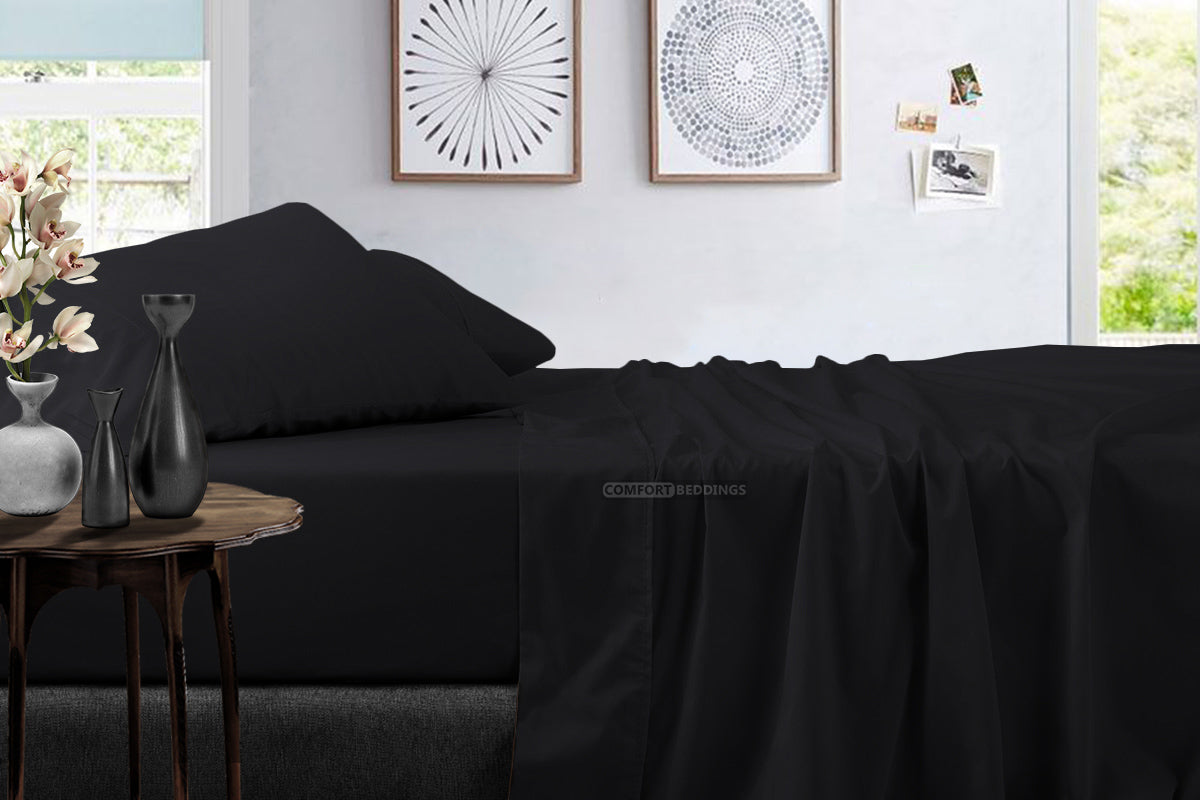 Top Quality Black 4 Piece Sheet Sets