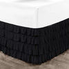 Best 100% Cotton Black Waterfall Ruffled Bed Skirt