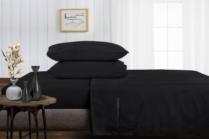 Luxurious Black 600TC Split Bed Sheets Set