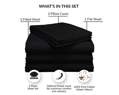 Best Quality Black Stripe Split Sheet Set