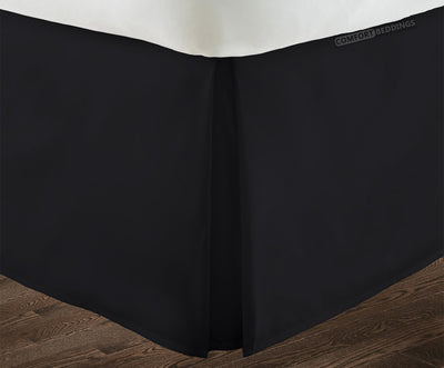 Top Quality Black pleated bed skirt
