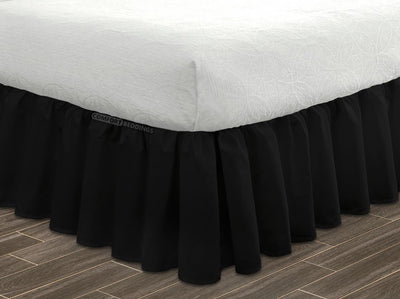 Black ruffle bed skirt 100% Egyptian Cotton Made