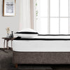 Soft Luxurious Black  - White two tone fitted sheets