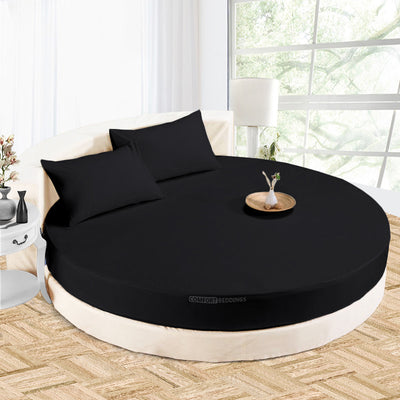 Luxury Black round bed sheets