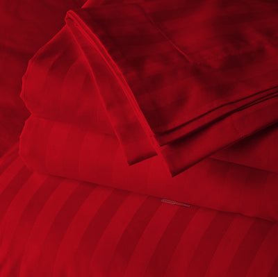 Luxury blood red striped body pillow covers