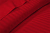 600 Thread count Classy Striped Blood Red Sheet Set