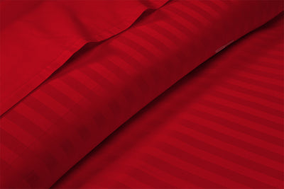 Beautiful Blood red stripe pillow case covers