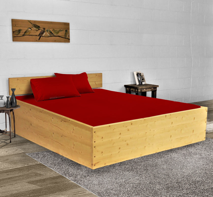 Luxury 600TC Blood Red Waterbed Sheets