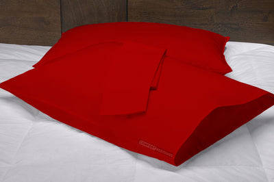 Luxury 1000 TC Blood red pillow cases
