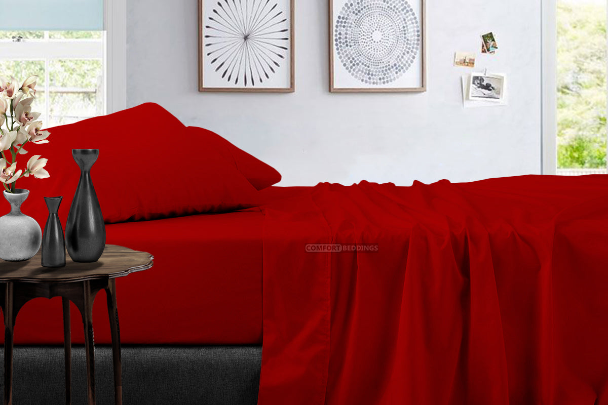 Luxury 600 TC Blood Red Sheet Set