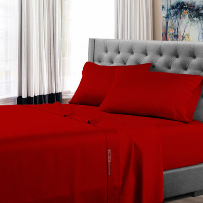 Luxury Blood Red Sheet Set