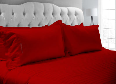 Elegent Blood Red Moroccan Streak Duvet Cover And Pillowcases