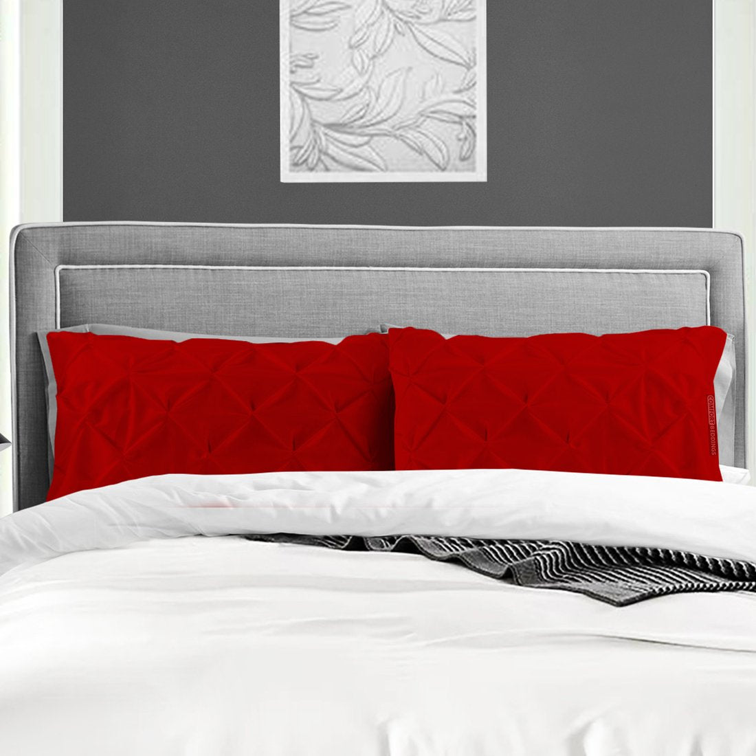 Blood Red pinch pillow cases