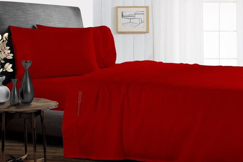 100% Egyptian Cotton Blood Red Split Sheet