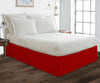 Best 100% Cotton blood red pleated bed skirt