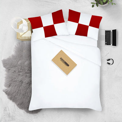 Luxury 600 TC Blood red - white chex pillowcases