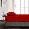 Luxury Cotton Blood Red Fitted Sheet