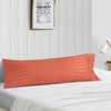 Top Selling brick red stripe body pillow case