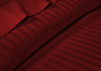 Top Quality Striped Burgundy RV Bunk Sheet Set