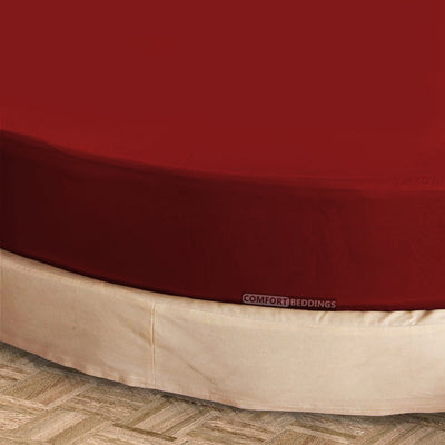 Luxury burgundy round Sheet Set
