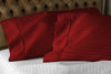Cozy burgundy stripe pillowcases 100% Egyptian Cotton Made
