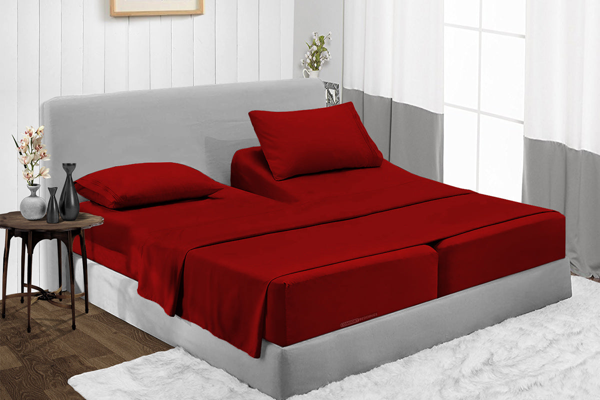 Burgundy RV Bunk Sheet Set